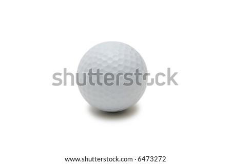Golf ball isolated on the white background - more similar photos in my portfolio - stock photo