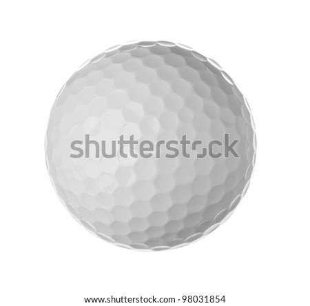 Golf ball, isolated on white - stock photo