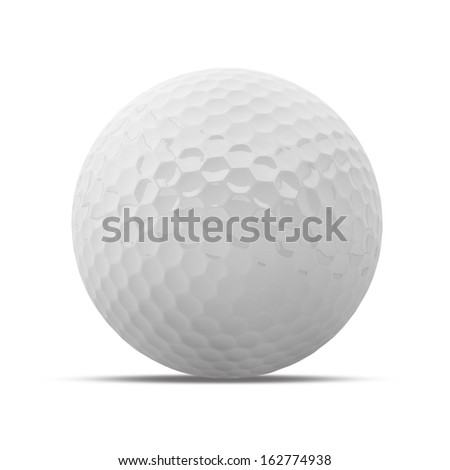 Golf Ball isolated on white background - stock photo