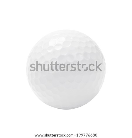 Golf ball isolated on white with clipping path. - stock photo