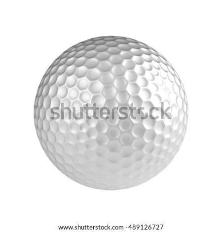 Golf ball isolated onthe white background without shadow. Sport equipment.