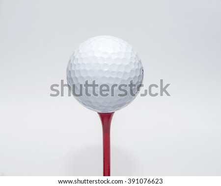 Golf ball on a pedestal Get ready for a swing