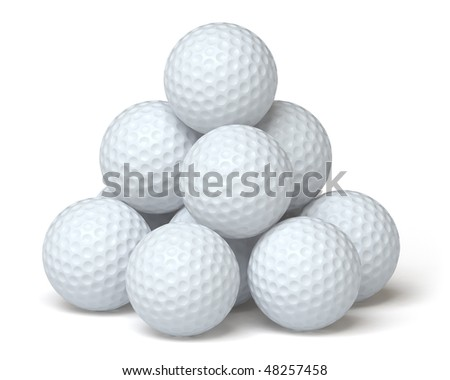 golf ball on a white surface. In my portfolio there is collection of pictures of sport themes. You only enter IN a SEARCH the Photographer Name: PAVEL IGNATOV and keyword: SPORT - stock photo