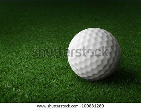 golf ball on course - stock photo