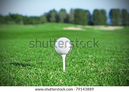 Golf ball on irish course