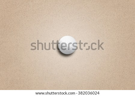 Golf Ball on Sand - stock photo