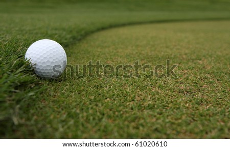 Golf Ball on the Fringe of the Green