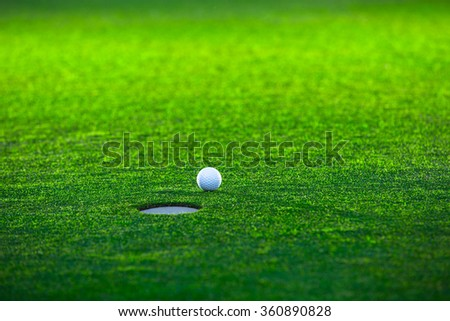 Golf ball on the lawn