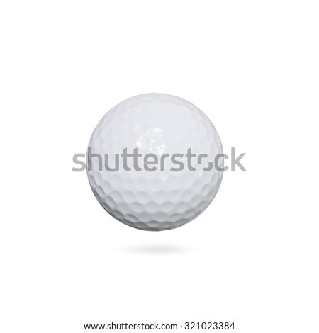 Golf ball on white background with clipping path. - stock photo
