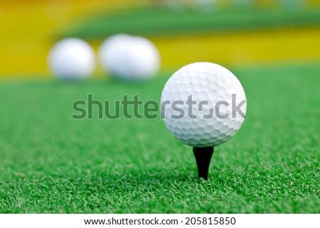 Golf ball. Playing golf - stock photo