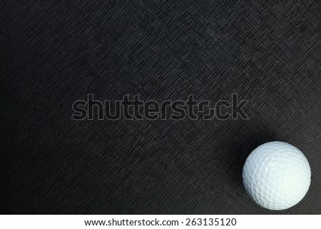 Golf ball represent the golf as a sport equipment concept and related idea.   - stock photo
