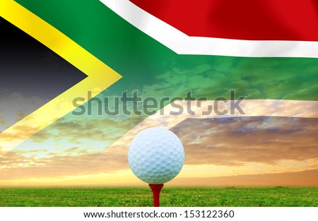 Golf ball South Africa - stock photo