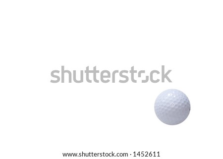 Golf ball with a white background