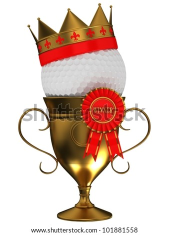 Golf ball with the cup - stock photo