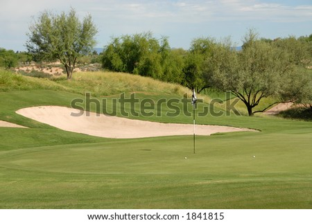 Golf balls on the green, Scottsdale, Arizona