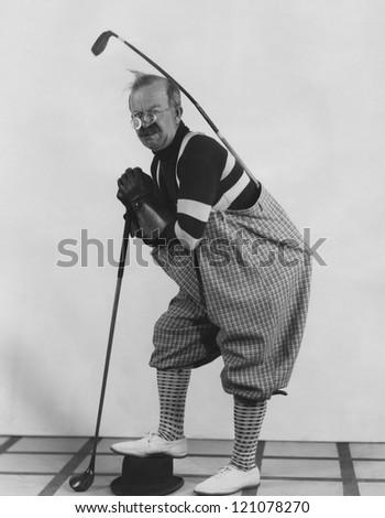 Golf caddy - stock photo