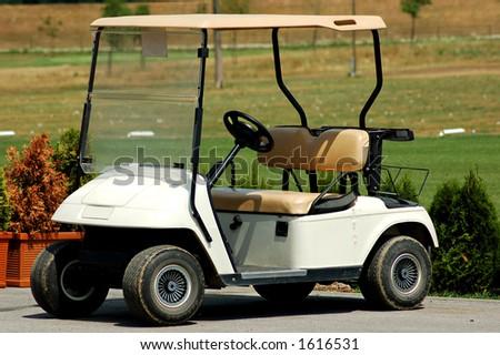 Golf car - stock photo