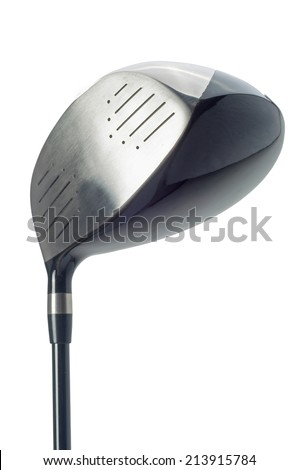 Golf club Isolated on white - stock photo