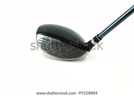 Golf club on a white background with copy space