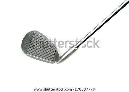 Golf club on white background - stock photo