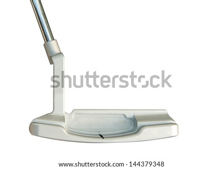 Golf club Putter  on white background - stock photo