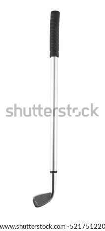 Golf clubs isolated on a white background closeup
