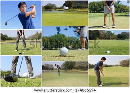 Golf concept - stock photo