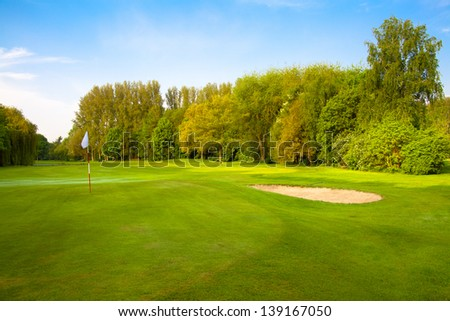 golf course. - stock photo