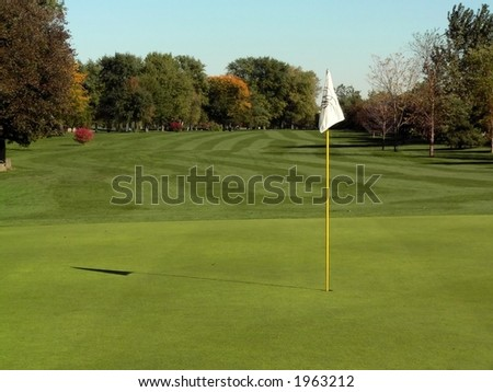 Golf Course and Action - stock photo