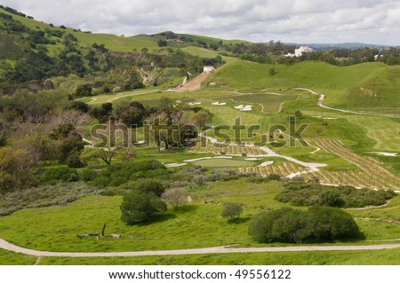 Golf course and vineyard, Del Valle Regional Park, Livermore, California