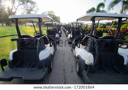 golf-course at Mae-Moh Lignite Mine Lampang,Thailand - stock photo
