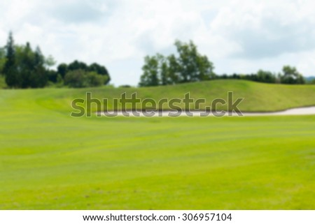 golf course blurred background