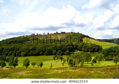 Golf course in Glossop, Derbyshire, England UK