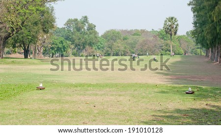 golf course in natural environment