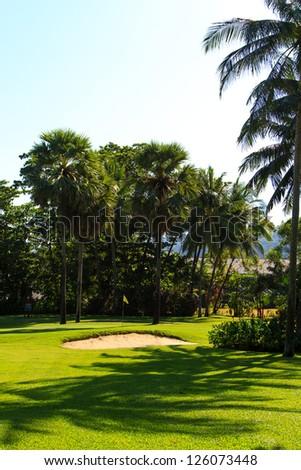 golf course in Phuket Thailand - stock photo
