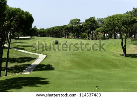 Golf course on Algarve, Portugal