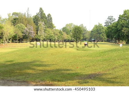 Golf Course on Sunny Day