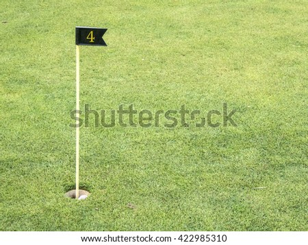Golf course, symbolic photograph, hole number 4