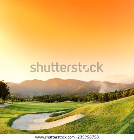 Golf Courses - stock photo