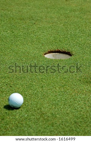 Golf dof (ball is not in focus) - stock photo