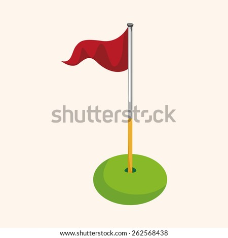 golf equipment theme elements - stock photo