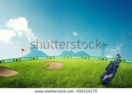 Golf field 3D illustration