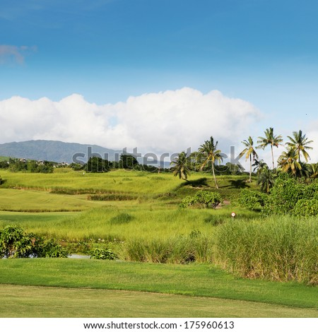 golf field on Mauritius island