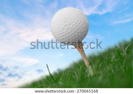 Golf, Golf Ball, Ball. - stock photo
