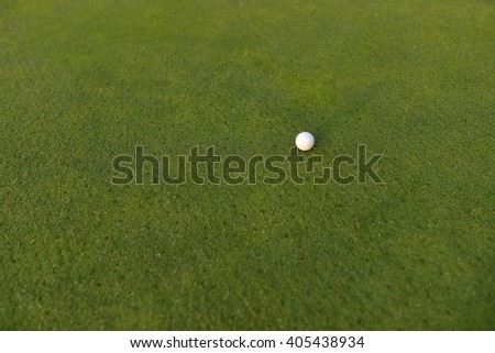 golf green and ball
