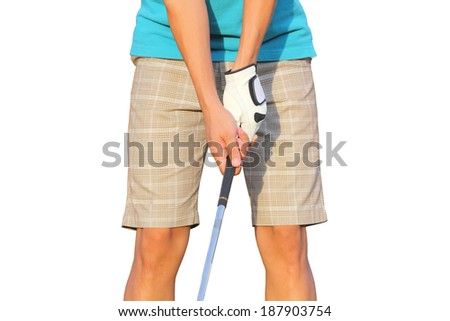 Golf grip, isolated on white. - stock photo