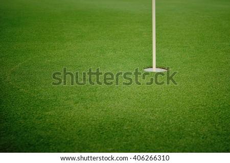 golf hole - stock photo