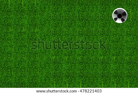 golf hole on a field