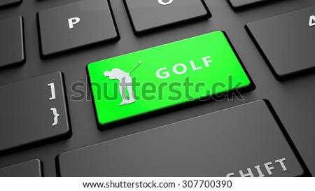 golf keyboard key