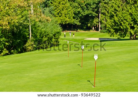 golf player on a wonderful course - stock photo